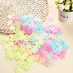 100 Pcs Color Home Glow In The Dark Star Stickers Wall Decal