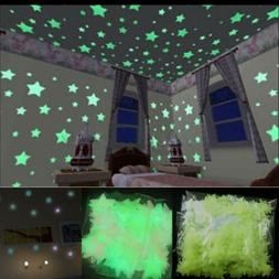100 X Glow In The Dark Stars Wall Sticker Kid Nursery Bedroo