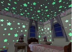 100Pcs Wall Stickers Home Decor Glow In The Dark Star sticke