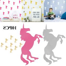 10pcs Novelty Unicorn Pattern Wall Stickers Vinyl Decals Hom