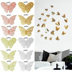 12 Pcs 3D Butterfly Wall Stickers Decal Removable Mural Home
