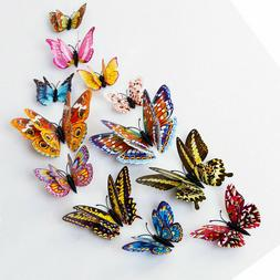 12Pcs 3D Glow in The Dark Butterfly Wall Decal Removable Sti