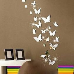 Amaonm 21 PCS Removable Crystal Acrylic Mirror Butterfly Wal