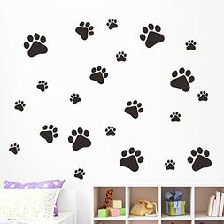 MLM Dog Paw Prints-Dog Pup Removable Vinyl Wall Sticker Deco