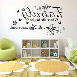 30x60CM Removable Family Wall Sticker Art Vinyl Decal Mural