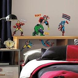 32 New CLASSIC MARVEL HEROES WALL DECALS Avengers Stickers B