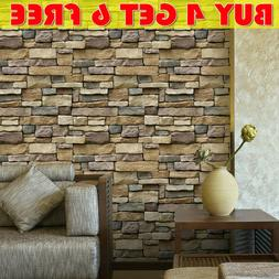 3D Brick Stone Self Adhesive Wall Sticker Panel Wallpaper Li