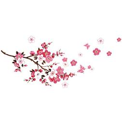 Wind's Legend 3D New Butterfly Pink Cherry Blossom Wall Stic