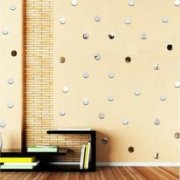 3D Circle Mirror Wall Stickers Acrylic Vinyl Decal Home Wall