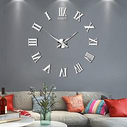 Vangold Large 3D DIY Wall Clock, 2-Year Warranty Roman Numer