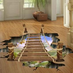 3D Floor Wall Sticker Removable Bridge Mural Decals Vinyl Ar