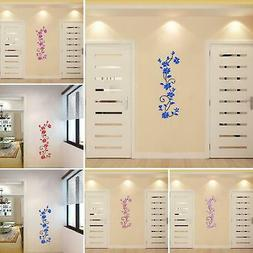3D Flower Wall Stickers Decals Vinyl Mural Art Home Room DIY