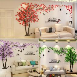 3D Large Tree Arcylic Wall Sticker Room Decal Mural Art DIY