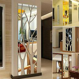 3D Mirror Tree Art Removable Wall Sticker Acrylic Mural Deca