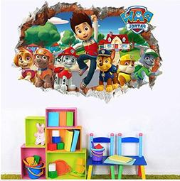 3D Paw Patrol Peel and Stick Wall Decals for Kids Bedroom