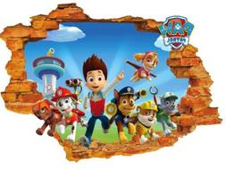 3D Paw Patrol Pups Breaking through Wall Decals Removable St