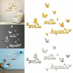 3D Removable Mirror Wall Sticker Love Butterfly Wall Decals