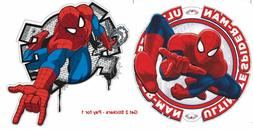 3d Spiderman wall stickers *2 for kids rooms mural poster bo