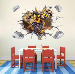 3D Transformers Bumblebee HUGE Wall Stickers Kids child play