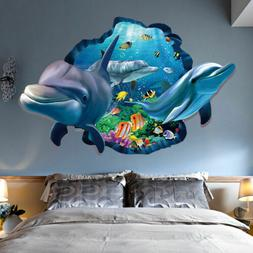 3D Wall Decal Sticker Dolphin Vinyl Dolphins Decor Ocean Sea