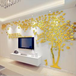 Large Tree 3D Arcylic Wall Sticker Room Decal Mural Art DIY