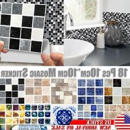 3D Waterproof Bathroom Kitchen Tile Mosaic Sticker Self-adhe