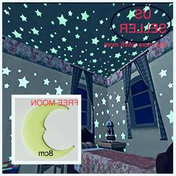 40-200Pcs Stars Glow In The Dark Stickers Wall Decal Kids Ba