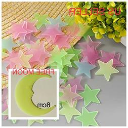 40-200Pc Stars Glow In The Dark Stickers Wall Decal Kids Bed