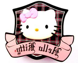 "5.5""-8.5"" HELLO KITTY PLAID WALL STICKER GLOSSY BORDER CHARA"