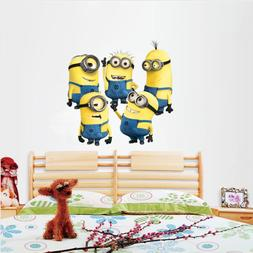 5 Minions Despicable Me 2 Wall stickers Wall Decal Removable