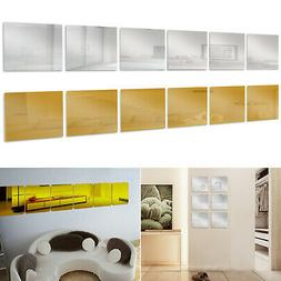 6 pcs squre mirror tile wall stickers