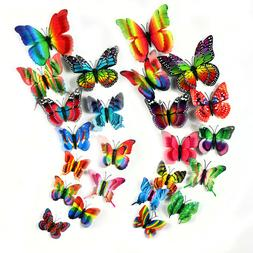 72 Pcs 3D Butterfly Wall Stickers Decal Removable Mural Home