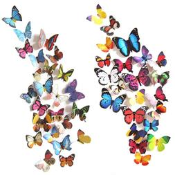 Heansun 80 PCS Wall Decal Butterfly, Sticker Decals for Room
