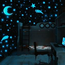 80pcs Stars Glow In The Dark Wall Stickers Baby Kids Nursery