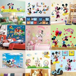 9 Style Mickey Minnie Mouse Wall Sticker PVC Decal DIY Child