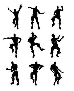 9 X nite xbox dancing men wall stickers SIZE 5CM tall, fort