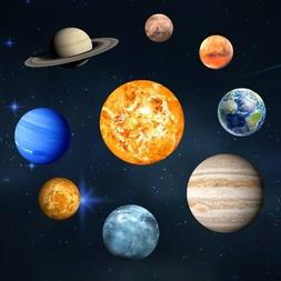 Planets Art Glow In The Dark Wall Stickers Mars Decal For Ki
