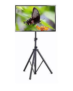 Elitech Steel Portable Plasma or LCD TV Stand with Tripod Le