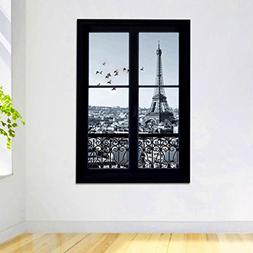 M Y Fly Young Wall Stickers 3D Scenery of Paris Waterproof W