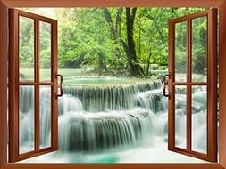 Wall26 - Waterfall in Thailand Removable Wall Sticker / Wall