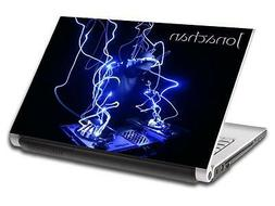 Abstract DJ Blue Personalized LAPTOP Skin Vinyl Decal Sticke