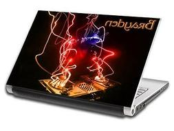 Abstract DJ Personalized LAPTOP Skin Vinyl Decal Sticker WIT