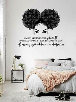 African Woman Wall Decal, African Girl Wall Sticker, Afro Gi