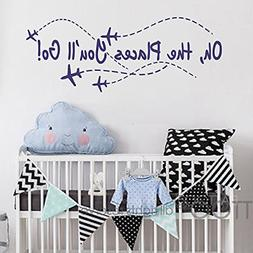 BATTOO Airplane Wall Decal - Oh the places you'll go - Nurse