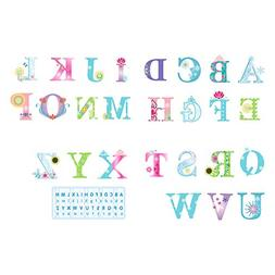 DecalMile Alphabet ABC Wall Decals Kids Education Wall Stick