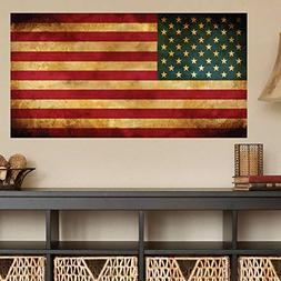 American Flag Distorted Wall Decal Sticker - 0452
