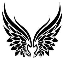 Angel Wings Tribal Vinyl Decal Sticker Home Wall Cup Car Dec