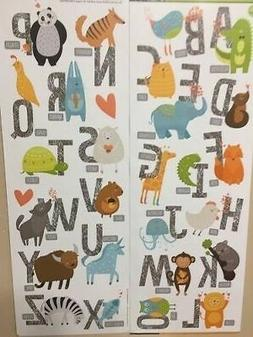ANIMAL ALPHABET LETTERS wall stickers 28 decals school room