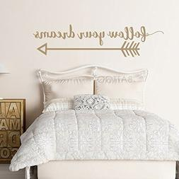 BATTOO Arrow Wall Decal- Follow Your Dreams Wall Decal Quote