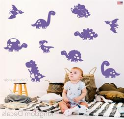 Baby Dinosaur Wall Stickers Decals Vinyl Cute 10 Assorted Ki